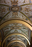 Portico ceiling by night in Bologna, Italy Stock Image