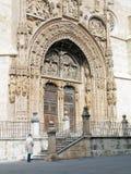 Portico of the Church. Portico of the St. Mary's Church in aranda de duero in burgos, Spain Royalty Free Stock Image