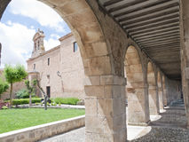 Portico and Church. Of lerma in the province of burgos in Spain Stock Photography