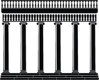 Portico (Colonnade) with balustrade Royalty Free Stock Photo