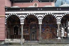 Portico del monastero di Rila Fotografia Stock Libera da Diritti