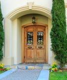 Portico di lusso dell'entrata della casa Fotografie Stock