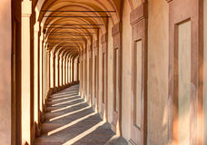 Portico di San Luca, Bologna. Iraly: the porch that connects the Sanctuary of the Madonna di San Luca to the city, a long (3.5 km) monumental roofed arcade Royalty Free Stock Images