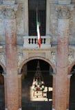 Portico e pareti del municipio della città di Vicenza Fotografia Stock