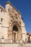 Entrance of the Gothic church of Santa Maria la Real, Aranda de. Portico of the Gothic church of Santa Maria la Real, Aranda de Duero, Burgos province, Castilla Stock Image