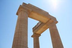 Portico greco Fotografie Stock Libere da Diritti