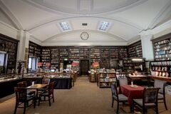 The Portico Library Stock Images