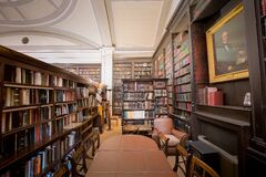 The Portico Library Reading Area Royalty Free Stock Photos