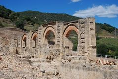Portico, Medina Azahara, Spain. Stock Photo