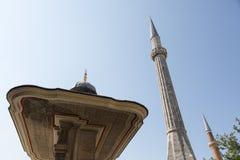 Portico and minaret, Hagia Sophia Royalty Free Stock Image