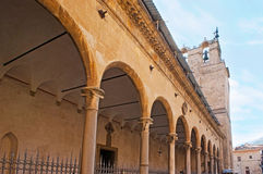 The portico of Monreale Cathedral Royalty Free Stock Photo