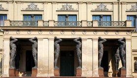 The Portico of New Hermitage, Saint Petersburg Royalty Free Stock Photography