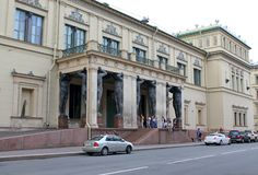 Portico of the New Hermitage. St. Petersburg. stock photos