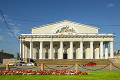 Portico of the Old Saint Petersburg Stock Exchange (Bourse) Royalty Free Stock Photo