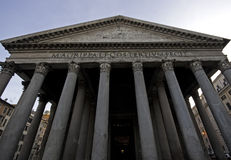 Portico of the Pantheon, Rome Stock Images