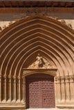 Portico of San Juan church in Aranda de Duero, Burgos province,. Castilla y Leon, Spain Royalty Free Stock Images