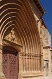 Portico of San Juan church in Aranda de Duero,. Burgos province, Spain Royalty Free Stock Image