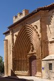San Juan church in Aranda de Duero, Burgos province,. Portico of San Juan church in Aranda de Duero, Burgos province, Spain Stock Photo