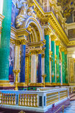 The portico in St Isaac's Cathedral of St Petersburg Stock Image