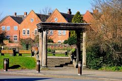 Portico to Franciscan Friary, Lichfield. Stock Photo
