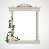 Portico un tempiale antico colonnade Vettore Fotografia Stock Libera da Diritti