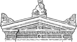 Portico vector illustration