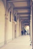 Porticoes a Bologna in Italia fotografie stock