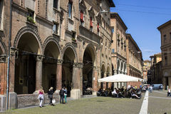 Porticoes of Bologna, Italy. The Porticoes of the medieval city of Bologna, Italy, part of the Unesco Tentative Lists for World Heritage Site Royalty Free Stock Photo