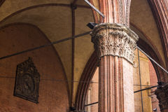 Porticoes of Bologna, Italy. The Porticoes of the medieval city of Bologna, Italy, part of the Unesco Tentative Lists for World Heritage Site Stock Photo