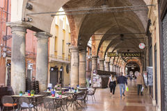 Porticoes of Bologna, Italy. The Porticoes of the medieval city of Bologna, Italy, part of the Unesco Tentative Lists for World Heritage Site Stock Images