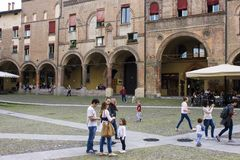 Porticoes of Bologna, Italy. The Porticoes of the medieval city of Bologna, Italy, part of the Unesco Tentative Lists for World Heritage Site Royalty Free Stock Photography