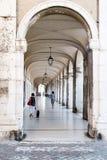 porticoes Ercolani, Senigallia马尔什 库存照片