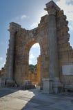 porticoes för marknad en för den kioskleptislibya magnaen omgav tholoi två Fotografering för Bildbyråer