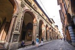 Porticoes van Bologna, Italië Royalty-vrije Stock Foto's