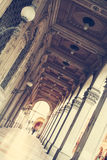 Porticos of Bologna. Ancient porticos in Bologna. Italy Royalty Free Stock Photography