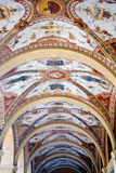 Porticos in Bologna, Italy. Roof of porticos in Bologna Royalty Free Stock Photos