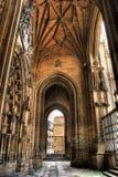 Portiek van de Oviedo kathedraal Stock Afbeeldingen