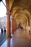 Portiek van Santo Stefano Bologna stock foto's