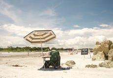 Portier privé de plage Photographie stock