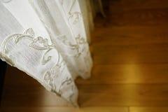 portiere地板室户内阳光特写镜头天静物画构造了在家 免版税图库摄影