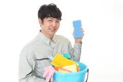 Portiere asiatico sorridente Immagine Stock