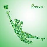 Portiere astratto di calcio illustrazione vettoriale
