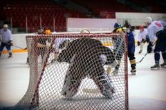 Portiere dell'hockey Fotografia Stock Libera da Diritti