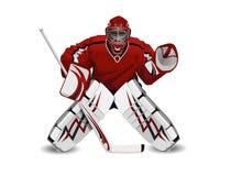 Portiere dell'hockey Fotografie Stock Libere da Diritti