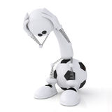 portiere di calcio della persona 3d. Fotografia Stock