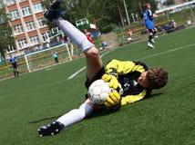 Portiere di gioco del calcio Fotografia Stock Libera da Diritti