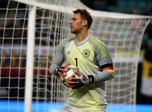 Portiere Manuel Neuer della squadra nazionale della Germania e di Bayern Munich fotografia stock libera da diritti