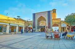 Portiers dans le bazar de Vakil, Chiraz, Iran Photo libre de droits