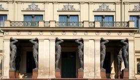 Portiken av den nya eremitboningen, St Petersburg Royaltyfri Fotografi