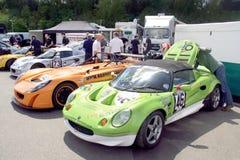 Portilla 2009 de las marcas de fábrica - coches de competición en los prados Fotografía de archivo libre de regalías